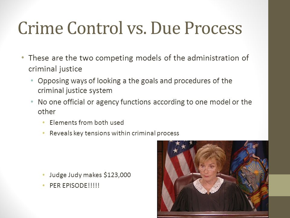 due process model 1 Sociology index due-process model two models of crime: the due process model and the crime control model have been debated the due process model is an ideal type.