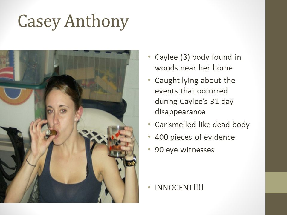 Casey Anthony Caylee (3) body found in woods near her home