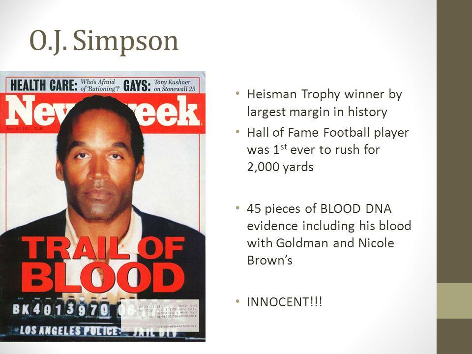 O.J. Simpson Heisman Trophy winner by largest margin in history