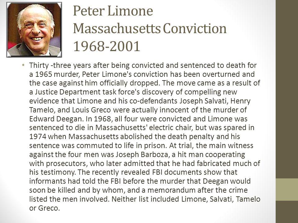 Peter Limone Massachusetts Conviction 1968-2001