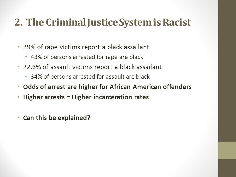 2. The Criminal Justice System is Racist