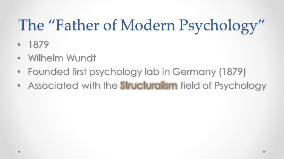 The Father of Modern Psychology