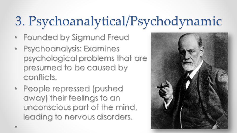 3. Psychoanalytical/Psychodynamic