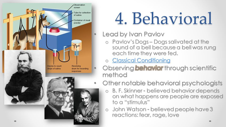 4. Behavioral Lead by Ivan Pavlov