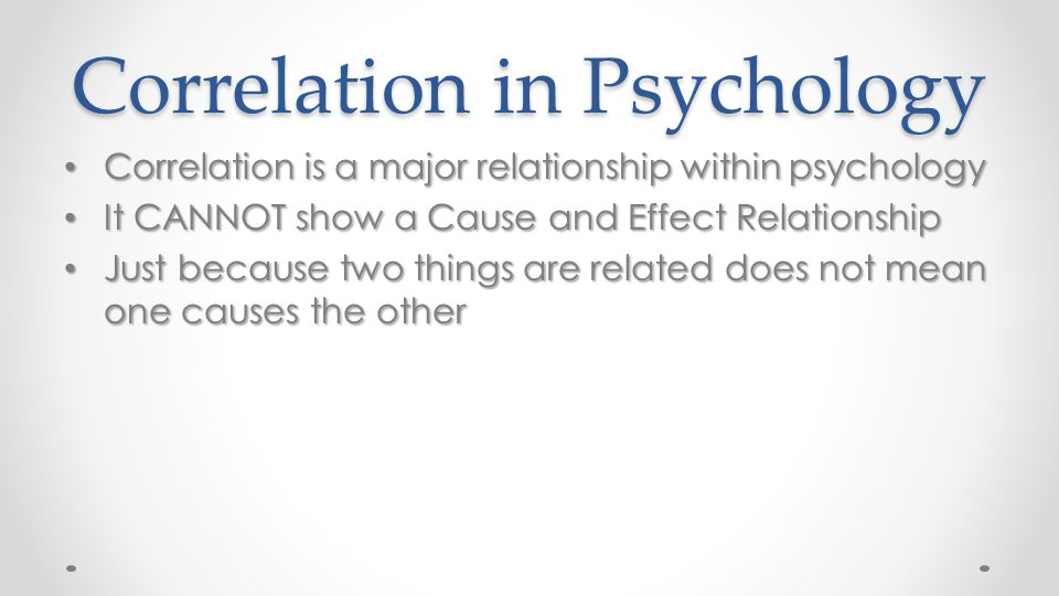 Correlation in Psychology
