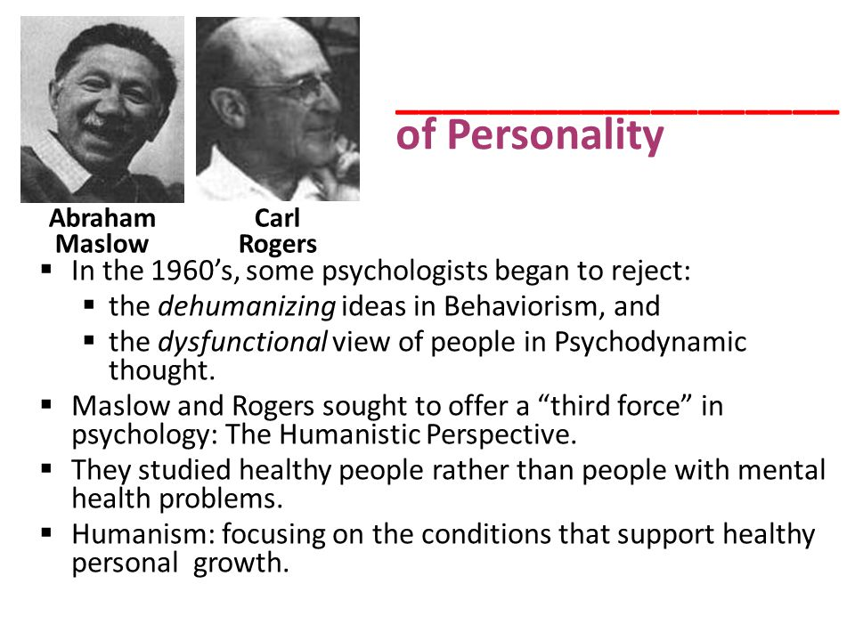 ___________________of Personality