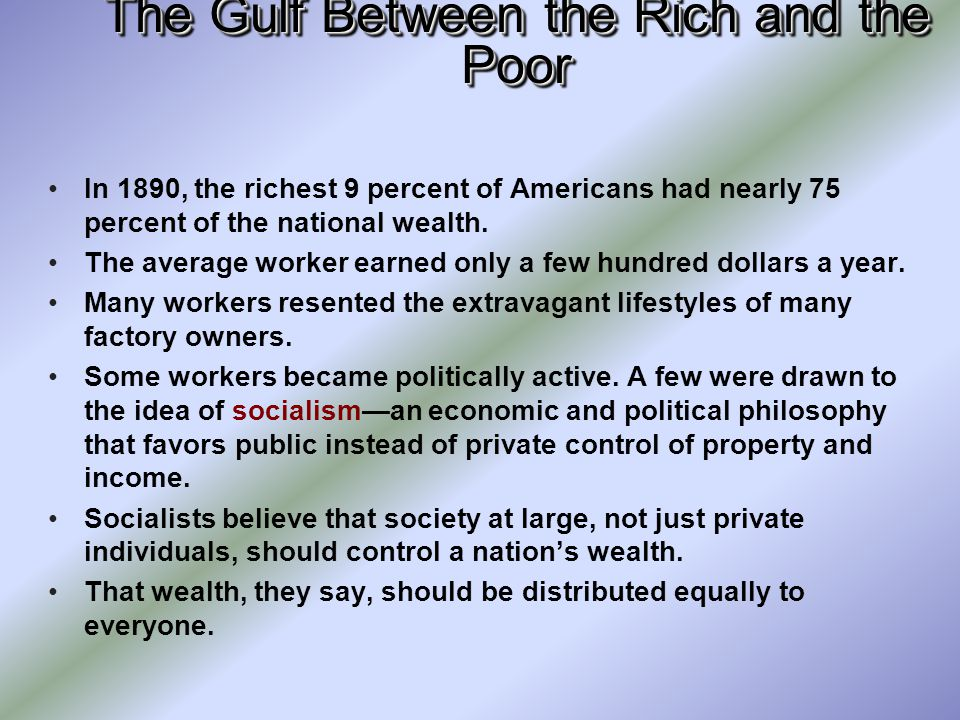 The Gulf Between the Rich and the Poor