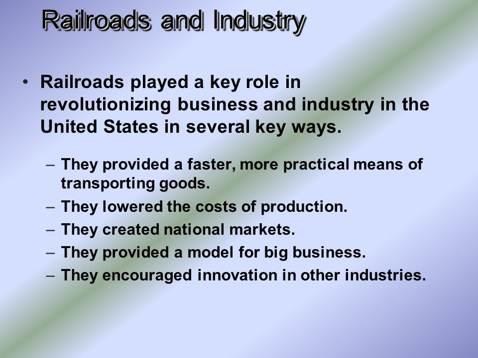 Railroads and Industry