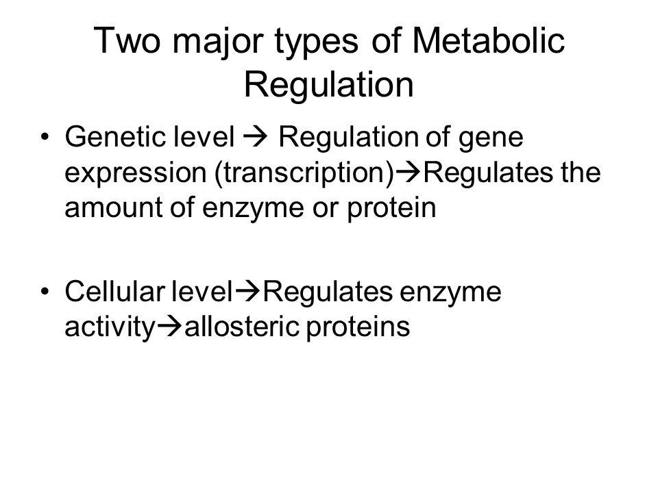 Two major types of Metabolic Regulation