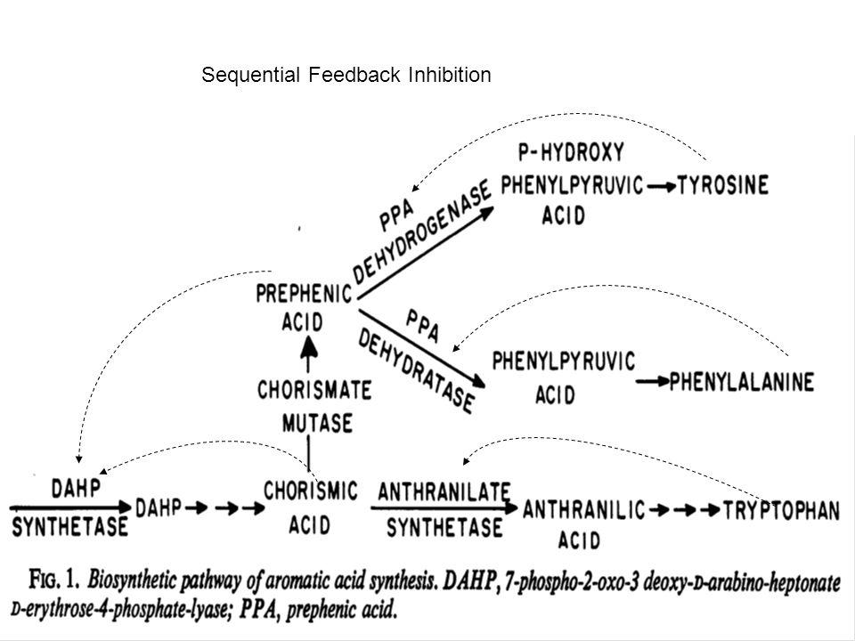 Sequential Feedback Inhibition