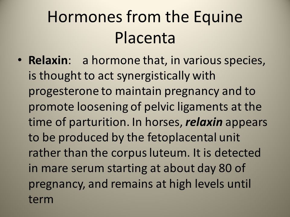 Hormones from the Equine Placenta
