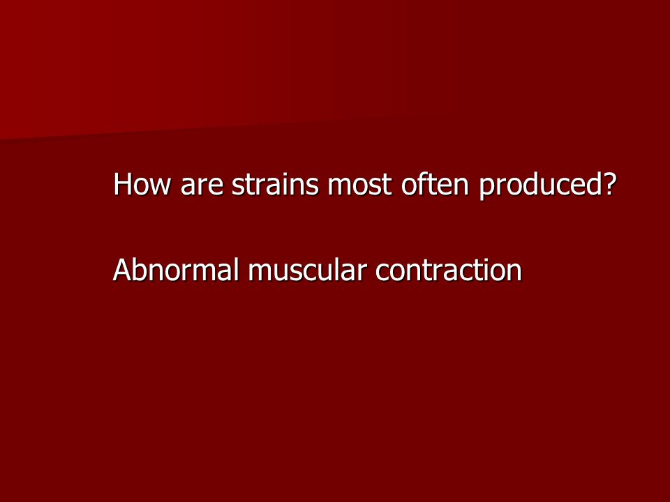 How are strains most often produced