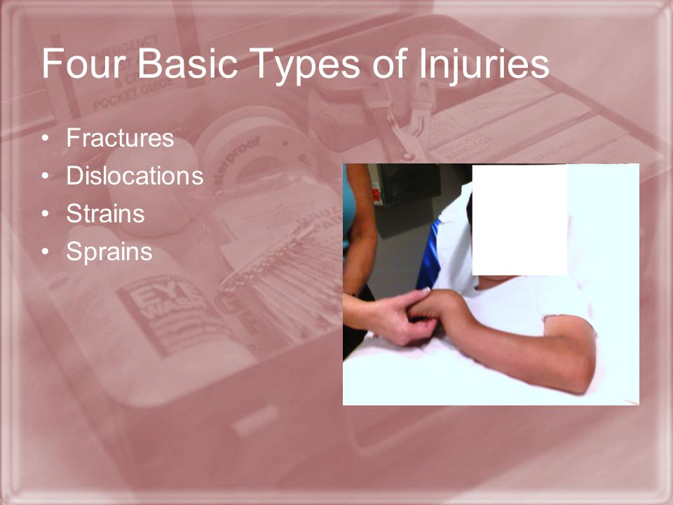 Four Basic Types of Injuries