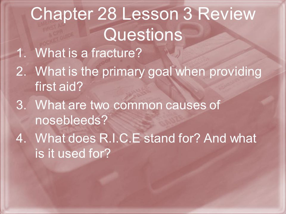 Chapter 28 Lesson 3 Review Questions