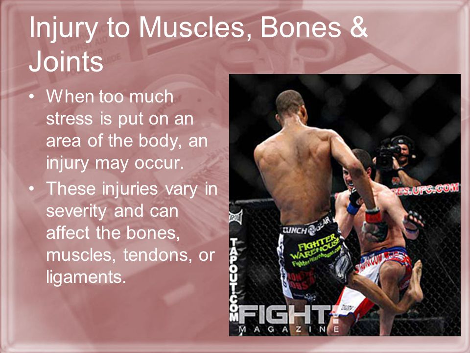 Injury to Muscles, Bones & Joints