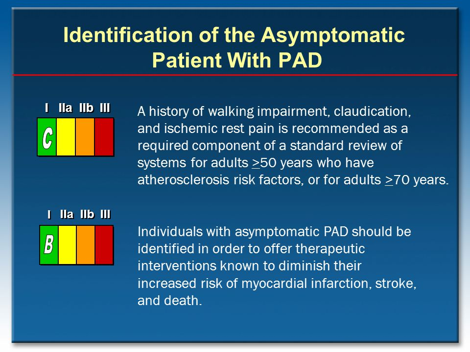 Identification of the Asymptomatic Patient With PAD