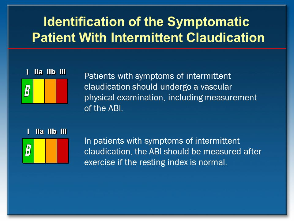 Identification of the Symptomatic Patient With Intermittent Claudication
