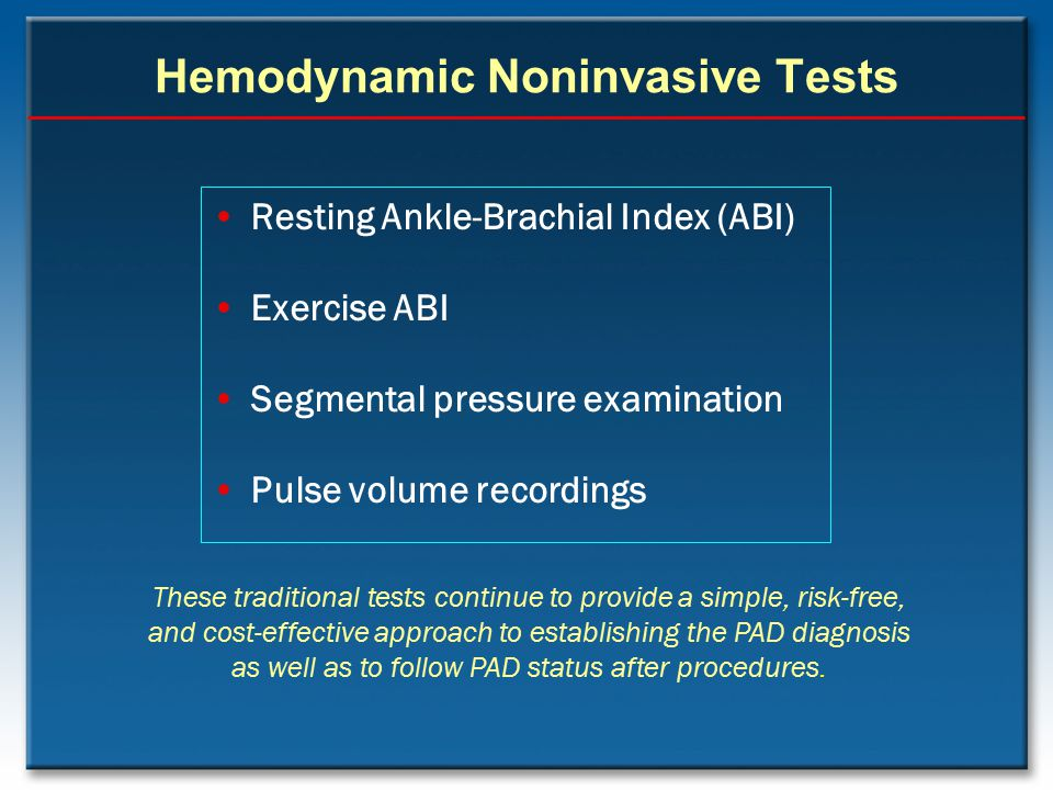 Hemodynamic Noninvasive Tests