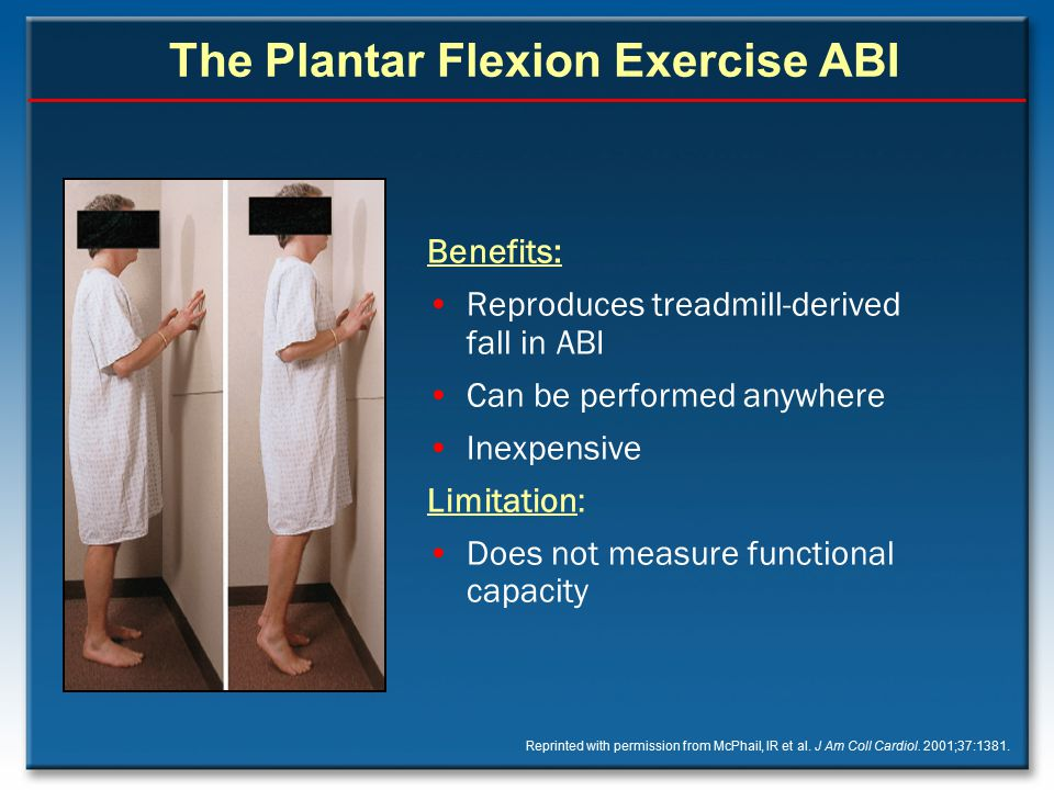 The Plantar Flexion Exercise ABI