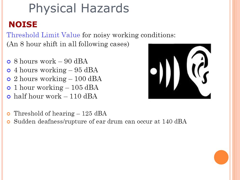 Physical Hazards NOISE