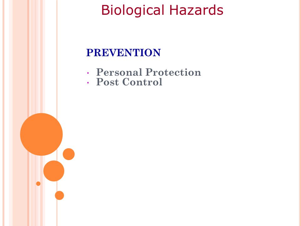 PREVENTION Personal Protection Post Control