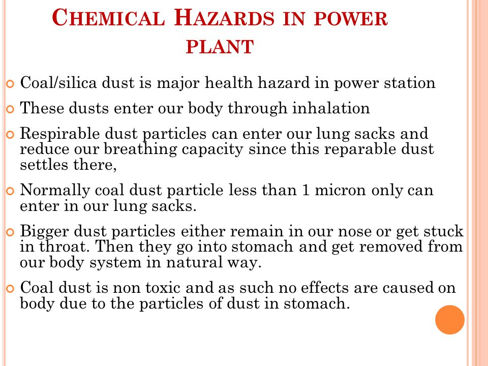 Chemical Hazards in power plant