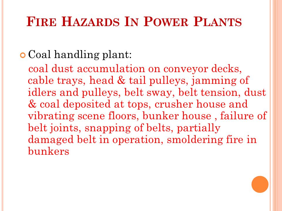 Fire Hazards In Power Plants
