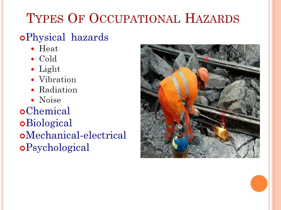 Types Of Occupational Hazards