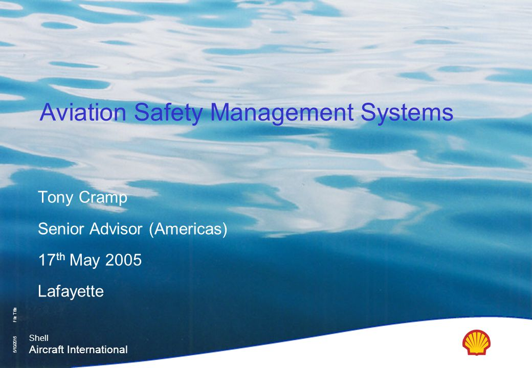 Aviation Safety Management Systems