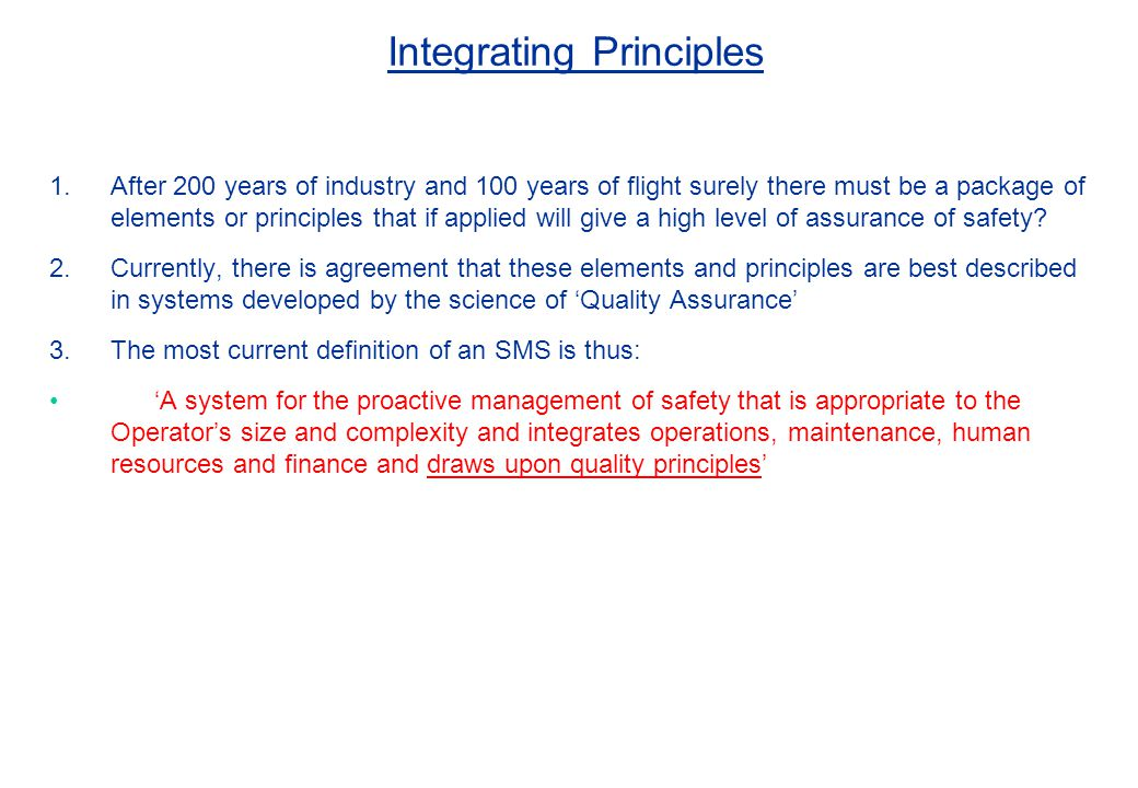 Integrating Principles