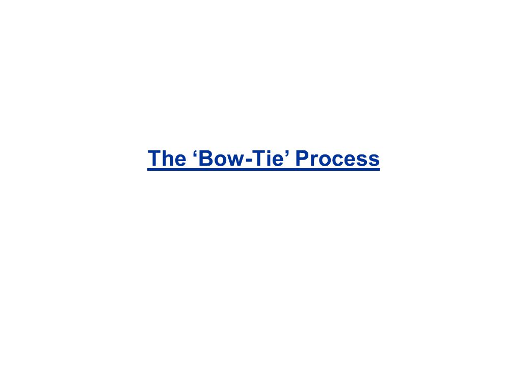 The 'Bow-Tie' Process