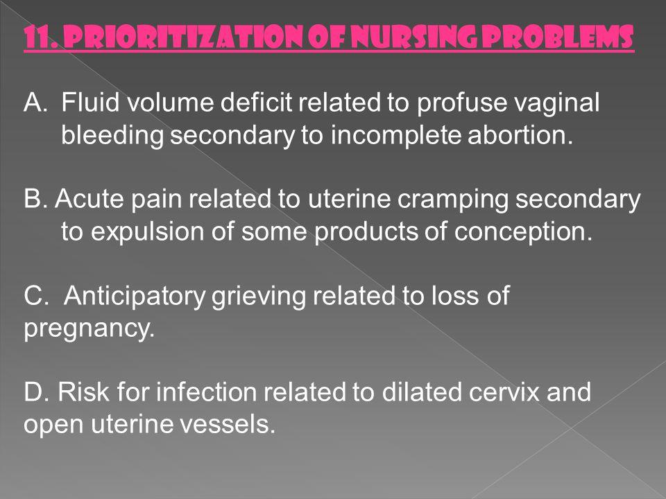11. PRIORITIZATION OF NURSING PROBLEMS