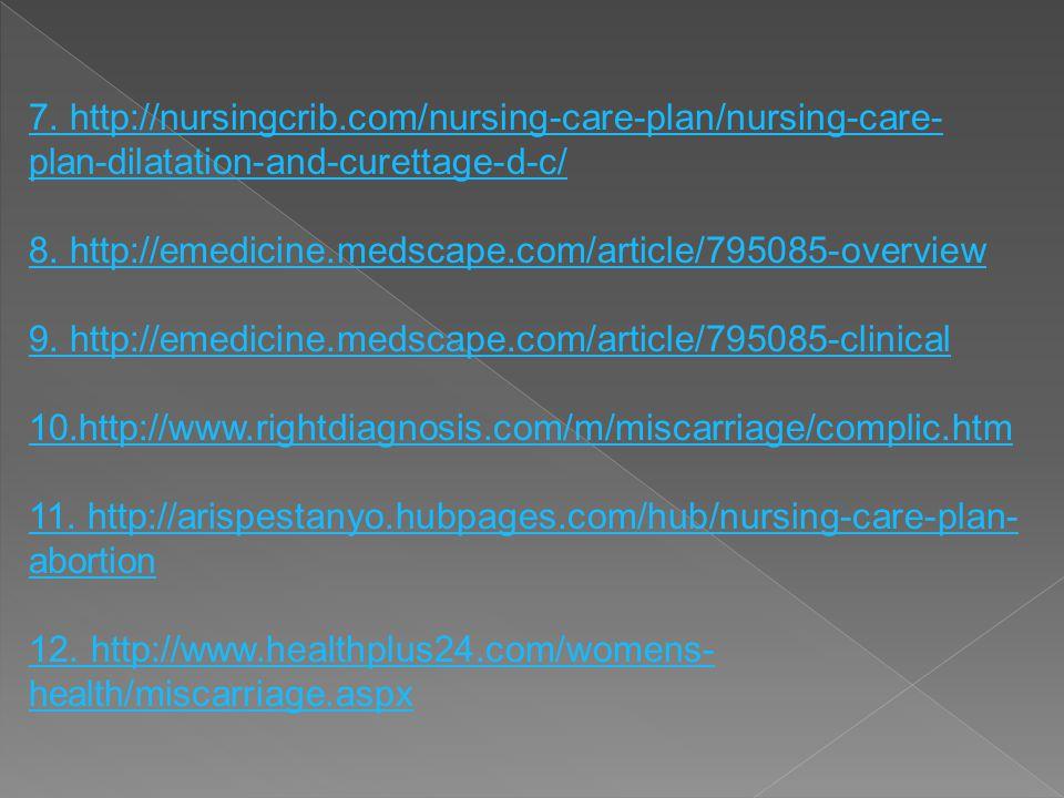 7. http://nursingcrib.com/nursing-care-plan/nursing-care-plan-dilatation-and-curettage-d-c/