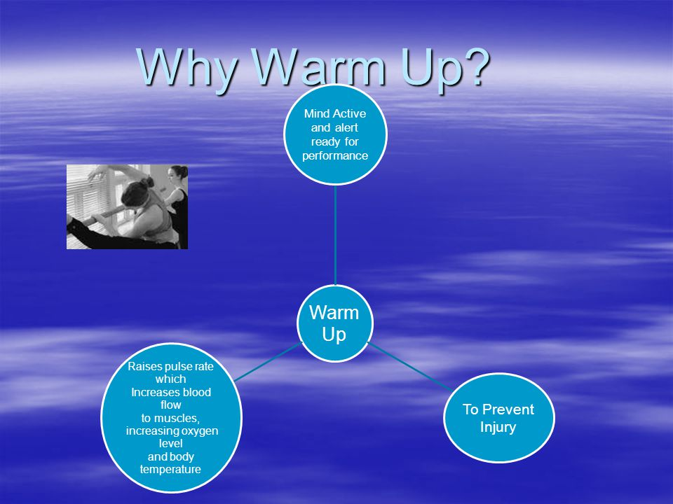 Why Warm Up To Prevent Injury Raises pulse rate which