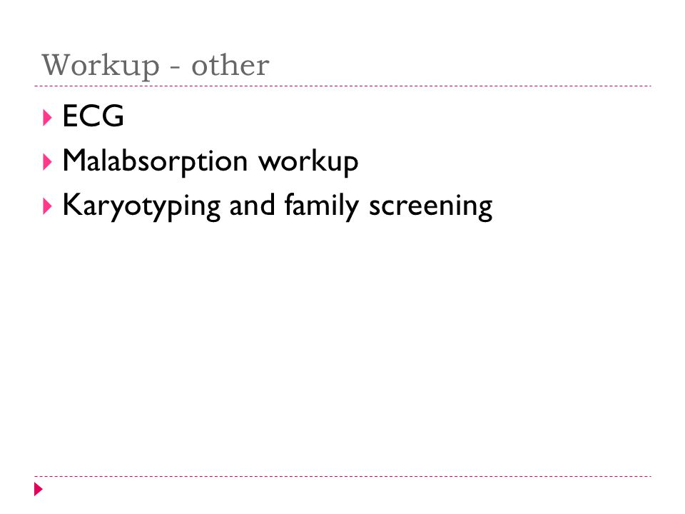 Karyotyping and family screening