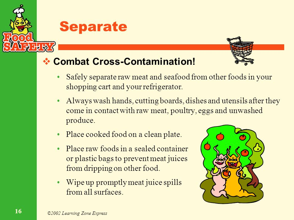 Separate Combat Cross-Contamination!