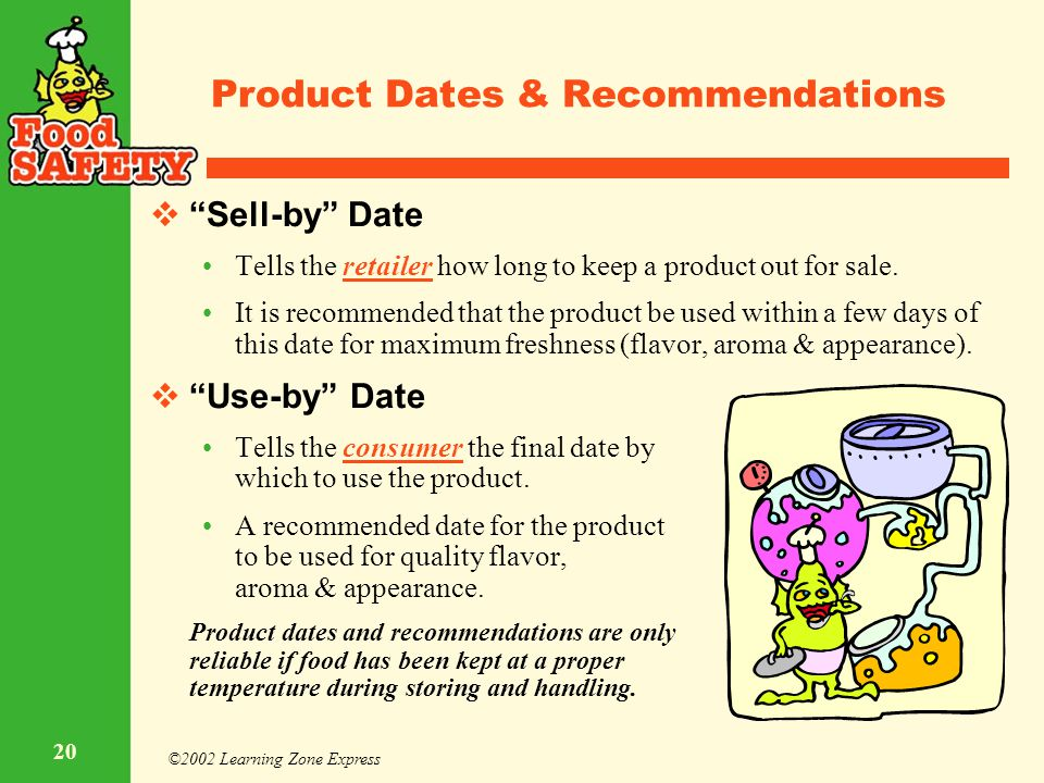 Product Dates & Recommendations