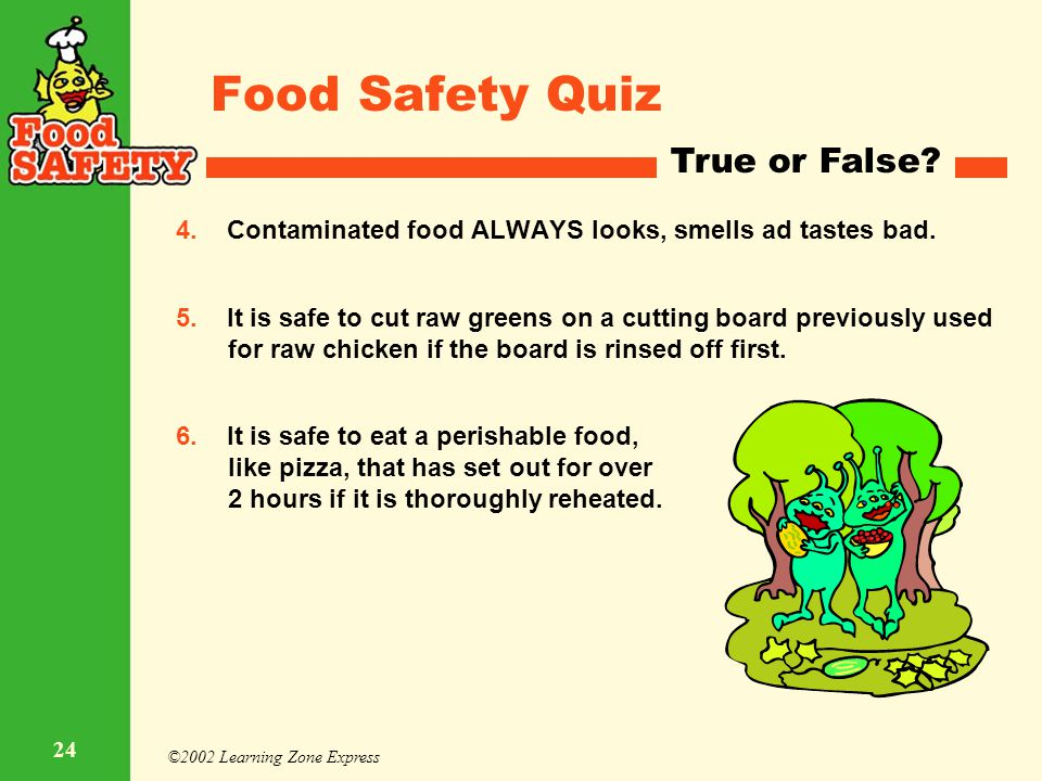 Food Safety Quiz True or False