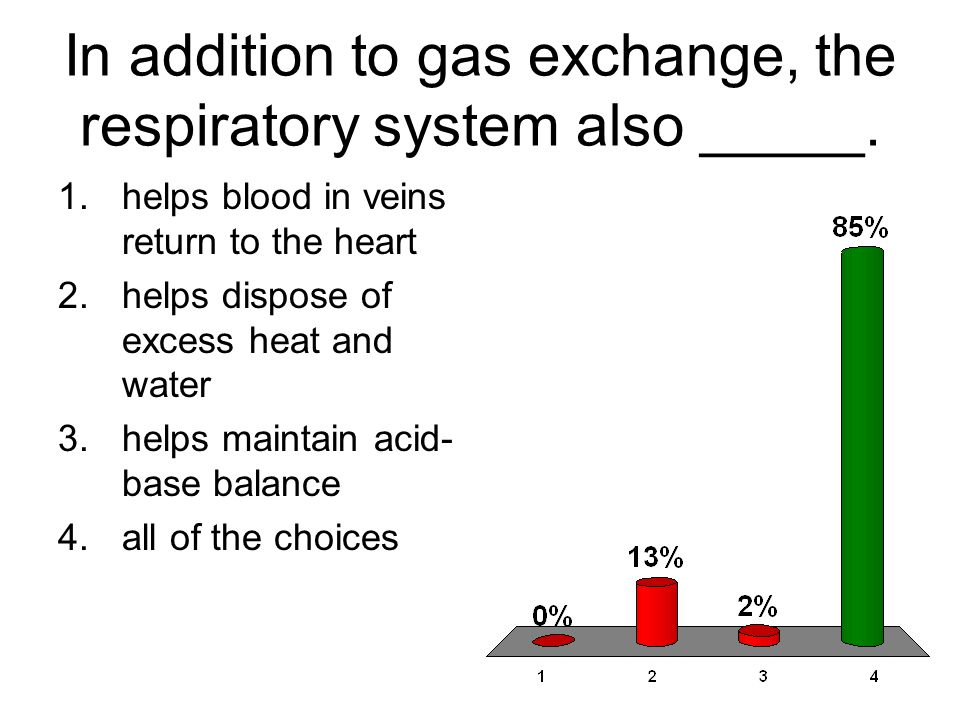 In addition to gas exchange, the respiratory system also _____.