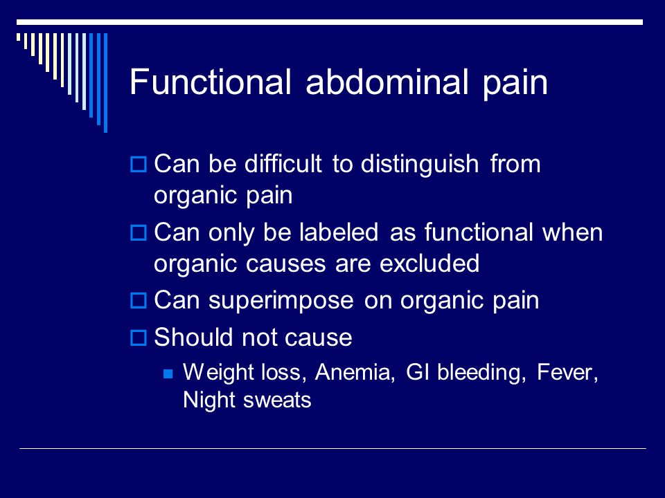 Functional abdominal pain