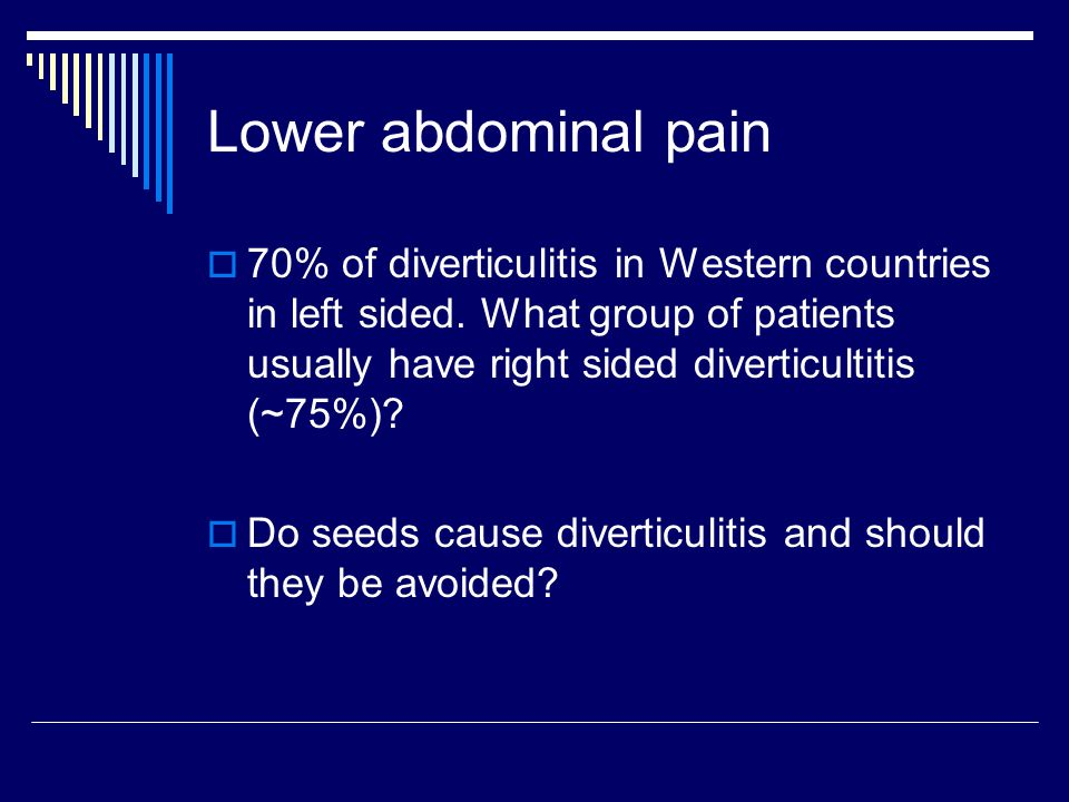 Lower abdominal pain