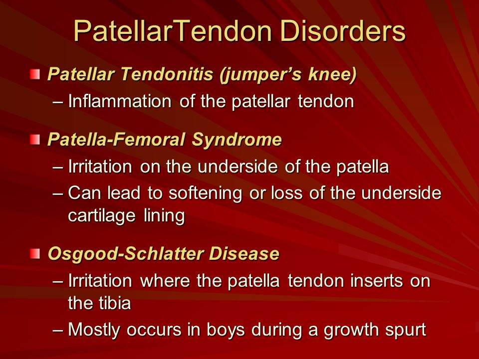 PatellarTendon Disorders