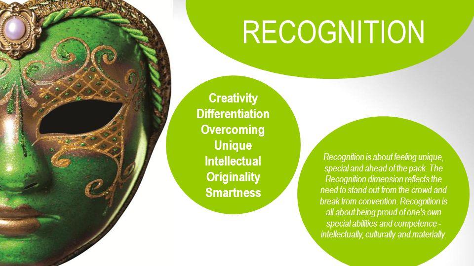 RECOGNITION Creativity Differentiation Overcoming Unique Intellectual