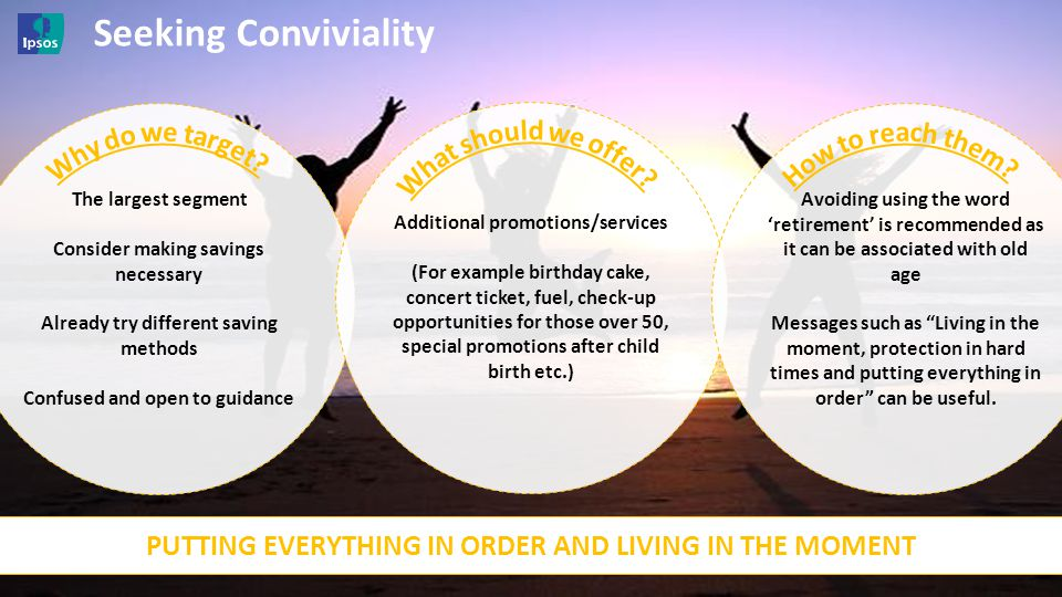 Seeking Conviviality Why do we target What should we offer