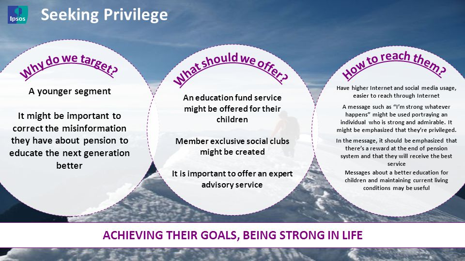 Seeking Privilege Why do we target What should we offer