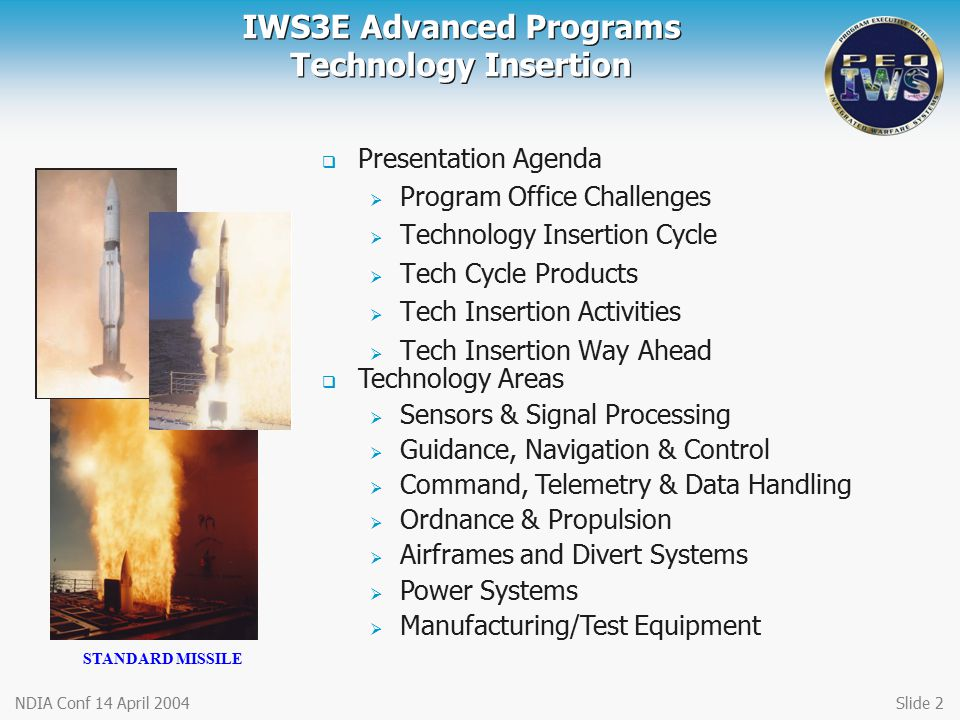 IWS3E Advanced Programs Technology Insertion