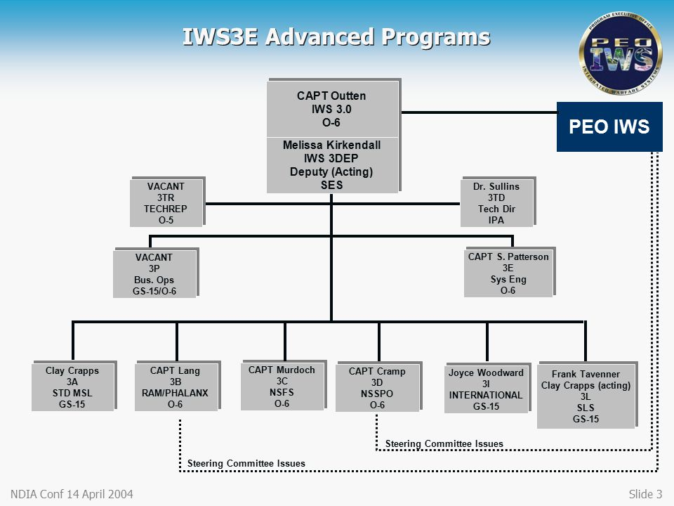 IWS3E Advanced Programs