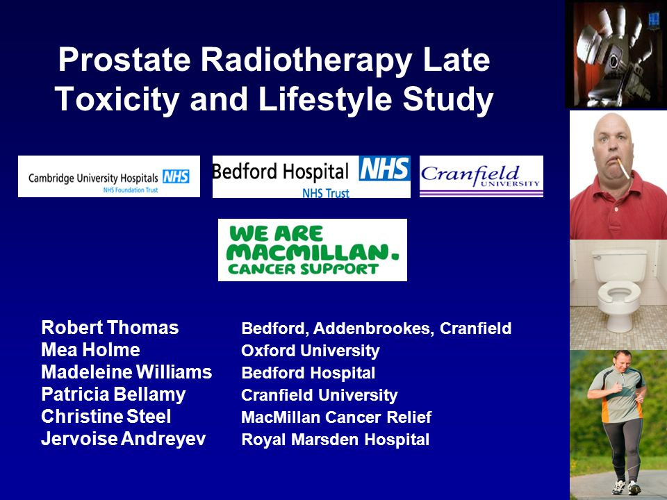 Prostate Radiotherapy Late Toxicity and Lifestyle Study