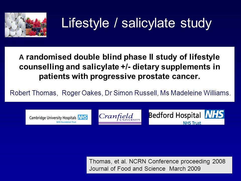 Lifestyle / salicylate study