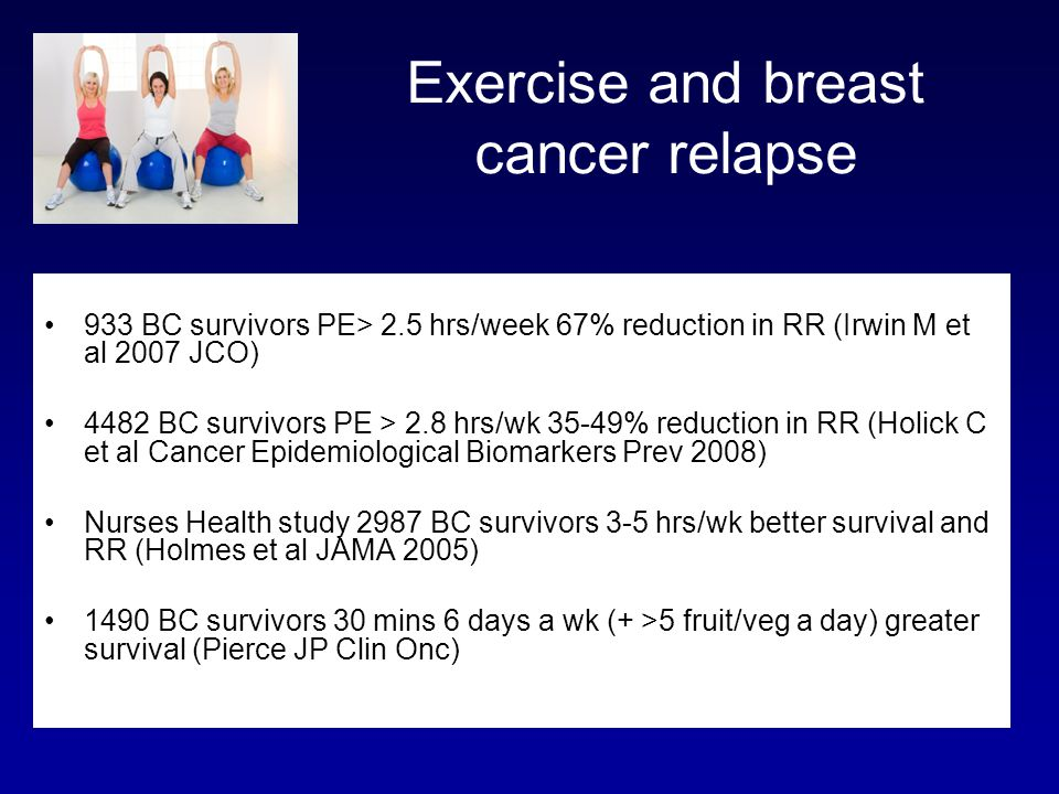 Exercise and breast cancer relapse